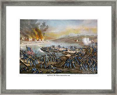 Battle Of Fredericksburg Framed Print by Granger