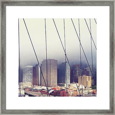 Brooklyn Bridge Framed Print by Eli Maier