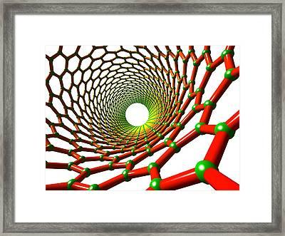 Carbon Nanotube Framed Print by Pasieka