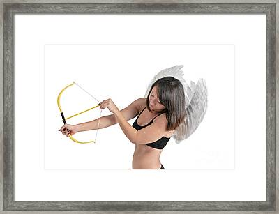 Cupid The God Of Desire Framed Print by Ilan Rosen