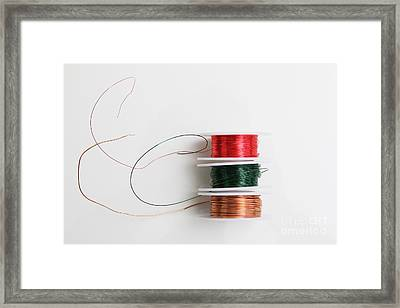 Enamel Coated Copper Wire Framed Print by Photo Researchers, Inc.