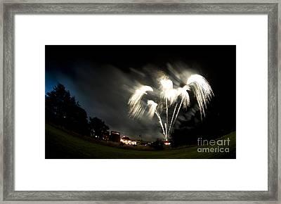 Fireworks Framed Print by Angel  Tarantella