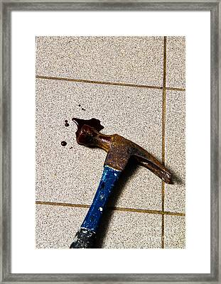 Forensic Evidence Framed Print by Photo Researchers, Inc.