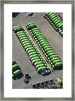Garbage Truck Fleet Framed Print by Don Mason