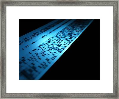 Genetic Research Framed Print by Tek Image