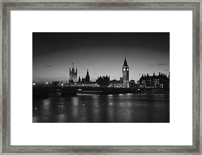 London  Skyline Big Ben Framed Print by David French