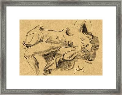 Nude Girl Framed Print by Odon Czintos