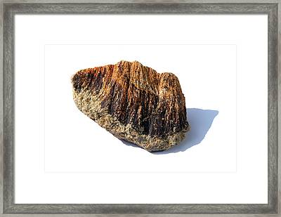 Rock From Meteorite Impact Crater Framed Print by Detlev Van Ravenswaay