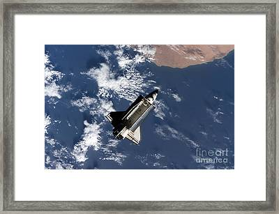 Space Shuttle Atlantis Framed Print by Stocktrek Images
