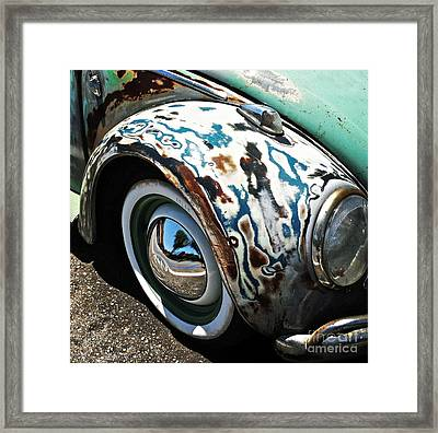 61 Volkswagon Bug Framed Print by Gwyn Newcombe