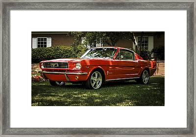 '66 Mustang Framed Print by Douglas Pittman