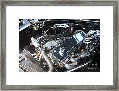 67 Black Camaro Ss 396 Engine-8033 Framed Print by Gary Gingrich Galleries