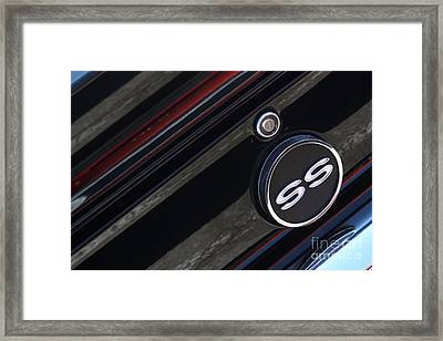 67 Black Camaro Ss Gas Tank-8019 Framed Print by Gary Gingrich Galleries