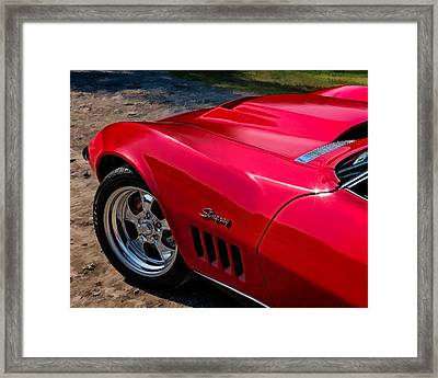 69 Red Detail Framed Print by Douglas Pittman