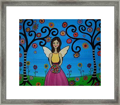 Angel Framed Print by Pristine Cartera Turkus