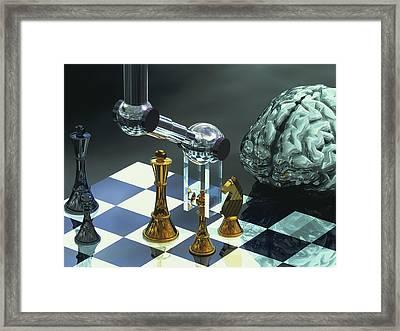 Artificial Intelligence Framed Print by Laguna Design