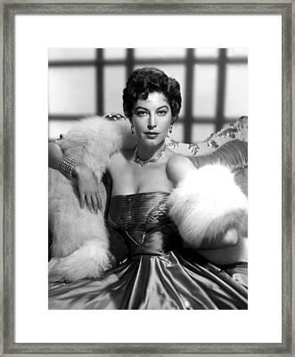 Ava Gardner Framed Print by Everett