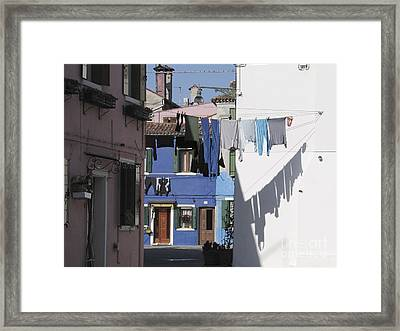 Burano.venice Framed Print by Bernard Jaubert