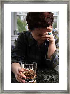 Depression And Addiction Framed Print by Photo Researchers, Inc.