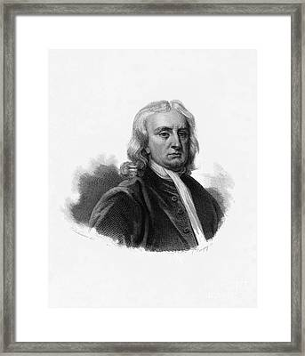 Isaac Newton, English Polymath Framed Print by Science Source