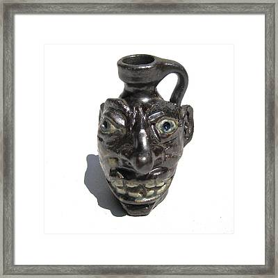 Miniature Face Jug Framed Print by Stephen Hawks