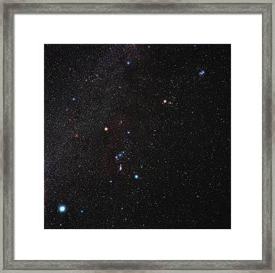 Orion Constellation Framed Print by Eckhard Slawik