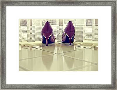 Pumps Framed Print by Joana Kruse