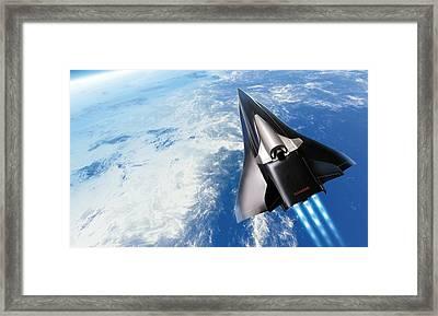 Saenger Horus Spaceplane, Artwork Framed Print by Detlev Van Ravenswaay