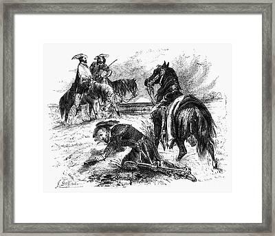 Sam Houston (1793-1863) Framed Print by Granger