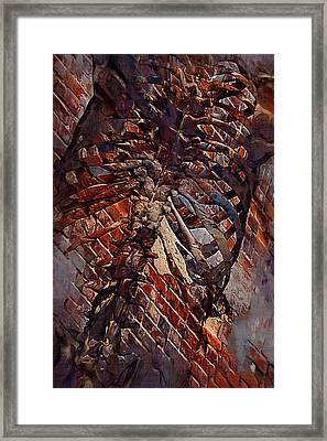 Torso Skeleton Framed Print by Joseph Ventura