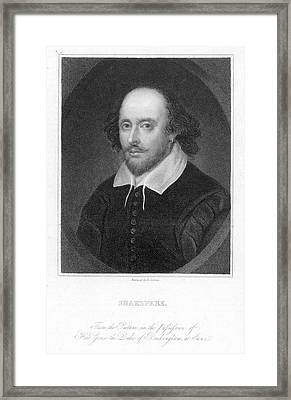 William Shakespeare Framed Print by Granger