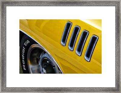 '71 440  'cuda  Framed Print by Gordon Dean II