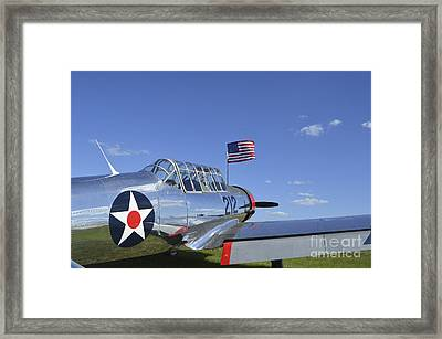 A Bt-13 Valiant Trainer Aircraft Framed Print by Stocktrek Images