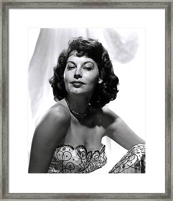 Ava Gardner Framed Print by Everett