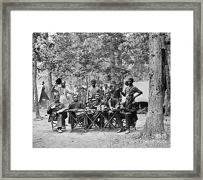 Civil War: Union Officers Framed Print by Granger