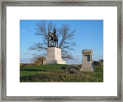 Gettysburg Three Days Battle   Framed Print by Valia Bradshaw