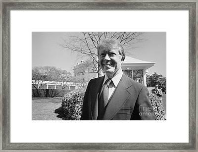 Jimmy Carter (1924- ) Framed Print by Granger