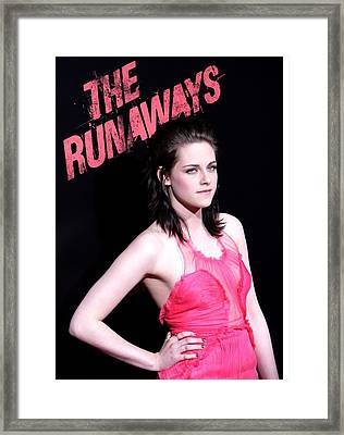 Kristen Stewart At Arrivals For The Framed Print by Everett