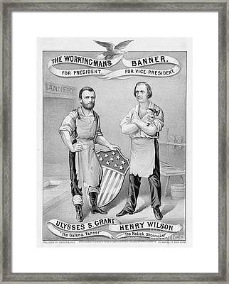 Presidential Campaign, 1872 Framed Print by Granger