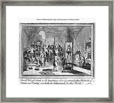 Spanish Inquisition Framed Print by Granger