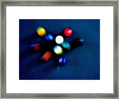 9 Ball Break Framed Print by Nick Kloepping