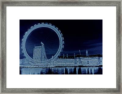 London Eye Art Framed Print by David Pyatt