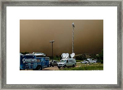 9 News At 11 Framed Print by Harry Strharsky