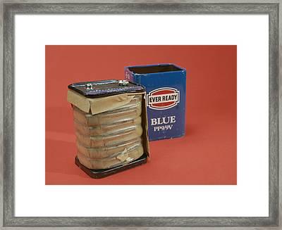 9 Volt Battery Framed Print by Andrew Lambert Photography