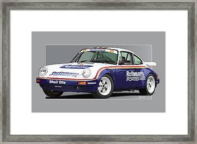 911 Porsche 911 Sc Rs Framed Print by Alain Jamar