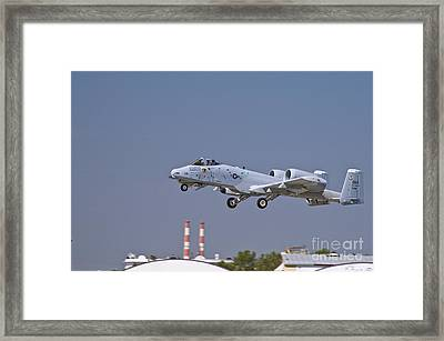 A-10 Gear Up Framed Print by Tim Mulina