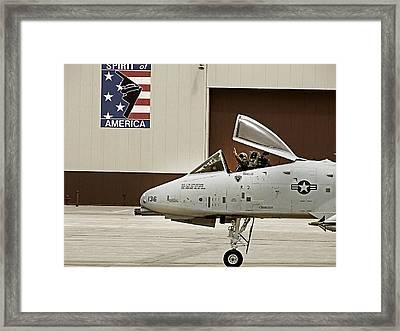 A-10 Thunderbolt Framed Print by Lamyl Hammoudi