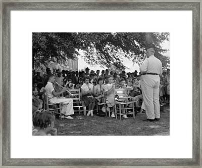 A Band Leader And His Band, Original Framed Print by Everett