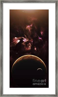 A Barren World Passes In Front Framed Print by Kevin Lafin