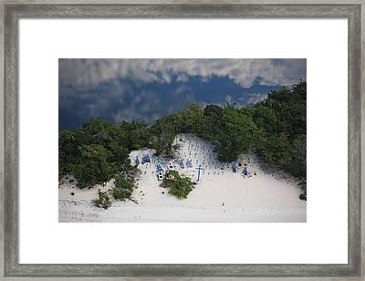 A Beach Cemetery Beside The Rio Negro Framed Print by Bobby Haas